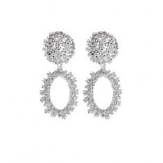 A-JW-x19041031silver ore ogre water drop korean earrings