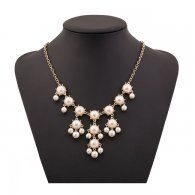 A-H2-100X404 Pearl Elegant Style Glam Beads Necklace Fashion
