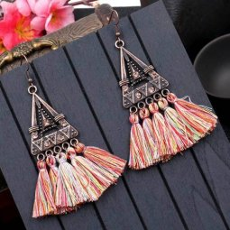 A-HH-HQEF1023rainbow1 Rainbow Mix Tassels Triangle Vintage Hook