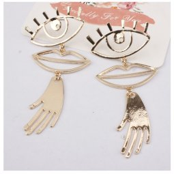 A-SD-XL0542 Golden Eye, Lip, Hand Trendy Korean Earstuds