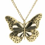 C10102467 Vintage butterfly korean long necklace malaysia shop