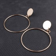 A-SD-EH525gold Gold Round Circle Ring Elegant Earstuds Shop