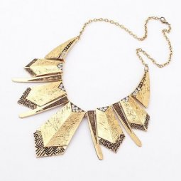 A-H2-100X296 Vintage elegant geometry statement necklace malaysi