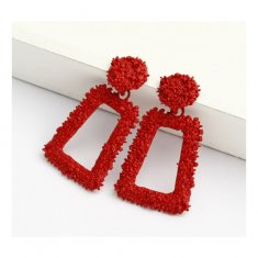 A-FX-E6540red Trendy Hot Red Korean Style Earstuds Malaysia