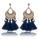 A-KJ-E020545nb Navy Blue Elegant Dinner Tassel Earstuds Shop