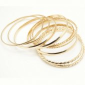 B-T-C34-80 Gold elegant multiple bangles set malaysia shop