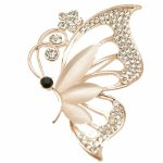 C015092707 Shiny crystals butterfly korea brooch pin accessories