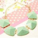 P95644 Green beads elegance choker necklace malaysia shop