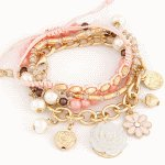 C10113243 Pink romantic rose charms korea bracelet malaysia shop