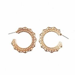 B-MLSF-005 Rose Gold Bohemian Hoop Simple Elegant Earstuds