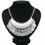 A-Q-Q8016 Silver dangling charm silver choker necklace malaysia