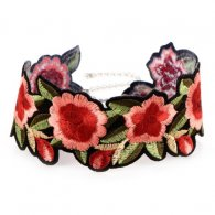A-PJ-71G308 Flowery Romance Dinner Tattoo Choker Necklace