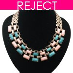 RD0403-Reject Design RD0403 - Pink green beads choker necklace