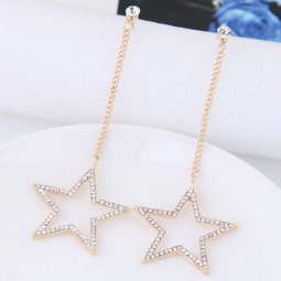 C10123293 Star crystals bead dangling earstuds malaysia shop