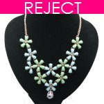 RD0405-Reject Design RD0405 - Spring flowery choker necklace