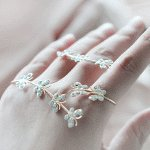 P119707 Butterfly shiny crystal ring bracelet accessories shop