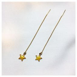 A-LG-ER0635(yellow) Yellow Dangling Star Korean Style Earstuds