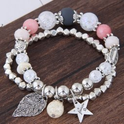 C101127269 Magically Beads Star & Leave Charm Bracelets