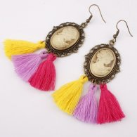 A-SD-SL286 Colourful Princess Elegant Tassel Hook Earrings