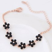 C0150712158 Flower charm gold elegant bracelet accessories