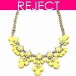 RD0377-Reject Design RD0377 - Yellow flowery choker necklace