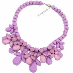 P105919 Purple flowery romantic korean choker necklace malaysia