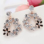 P119685 Shiny crystals flower earstuds korean accessories shop