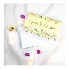 A-LH-GREENEFU Especially For You With Flowers Cream Gift Cards