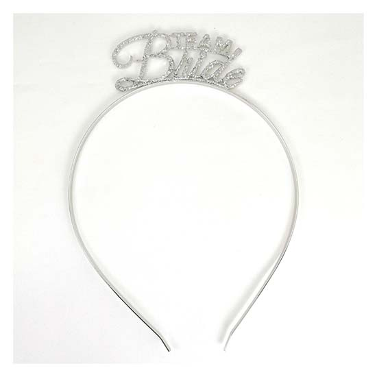 A-JF-FGsilver Team Bride Headband Glitter Wedding Theme Headband