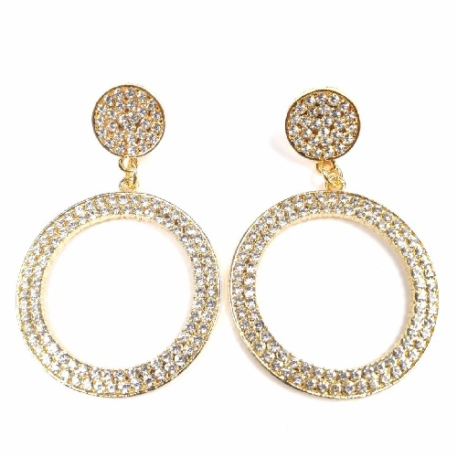 A-SD-ER0037 Gold Elegant Trendy Circle Pearls Earstuds Malaysia