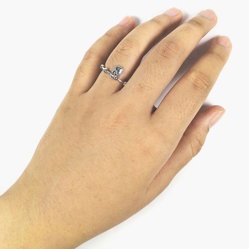A-TT-53 Silver Love Sfera Around Rings Couple Gift Ring