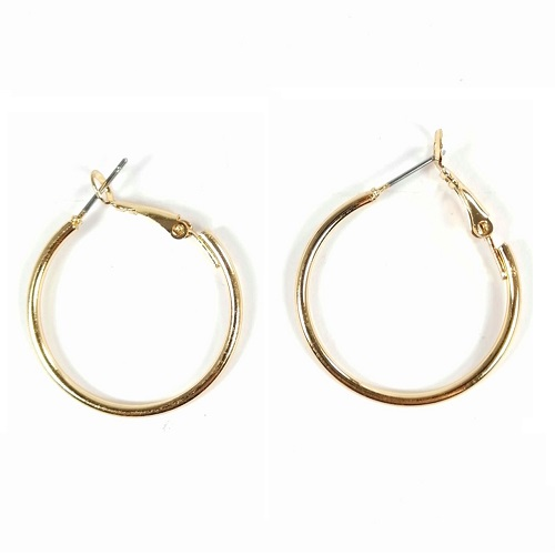 B-MLSF-002A Gold 3 cm Earrings Hoop Malaysia Shop