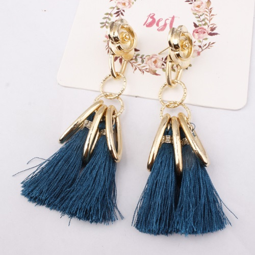 A-SD-SL286gr Green Rose Gold Elegant Tassel Earstuds Malaysia - Click Image to Close