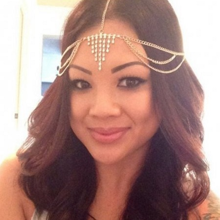 A-H2-100fd054 Gold shiny crystals bohemian headchain malaysia - Click Image to Close