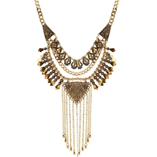 A-H2-100X602 Vintage 2 layer statement necklace malaysia shop - Click Image to Close