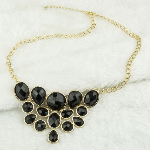 A-H2-100x188 Black Geometry Beads Choker Necklace Accessories - Click Image to Close