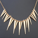 P117859 Gold spike korean short necklace accessories shop