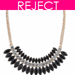 RD0157 - Reject Design RD0157- Black spikes bead choker necklace