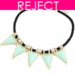 RD0180- Reject Design RD0180-Triangle blue gold Choker Necklace