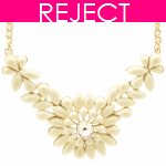 RD0227- Reject Design RD0227- Gold Flower Choker Necklace