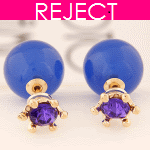 RD0300-Reject Design RD0300 - Blue purple round earstuds