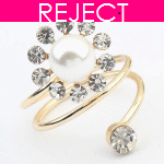 RD0315-RejectDesign RD0315 - Spiral pearl round chunky ring