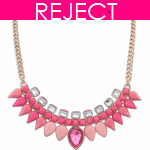 RD0327-Reject Design RD0327 - Pink beads spike choker necklace