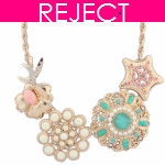 RD0369-Reject Design RD0369 - Cystals bead statement necklace