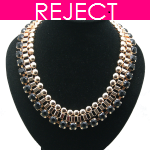 RD0394-Reject Design RD0394 - Gold black choker necklace