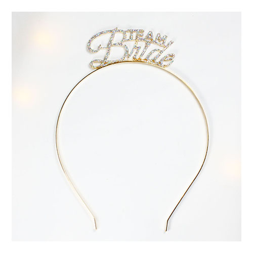 A-JF-FG-10250 Sparkly Golden Headband Team Bride Wording