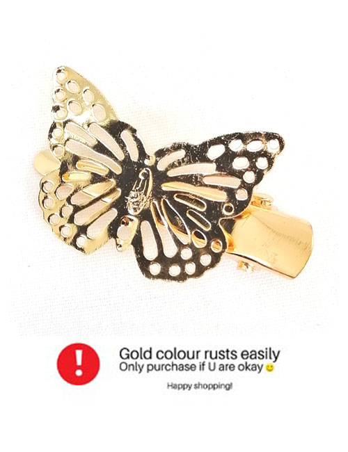 A-JW-1438FLY Golden Butterly Fashion Accessories Hairclip Shop