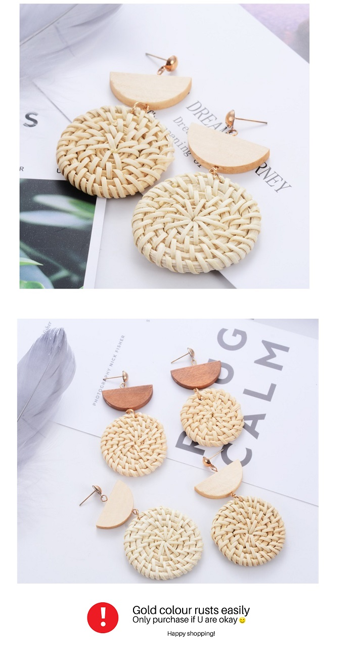 A-JW-x19041237light White Light Circle Rattan Earrings Malaysia