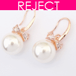 RD0108- Reject Design RD0108- Earrings Round Pearls