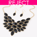 RD0113- Reject Design RD0113- Choker and Earrings Black Set